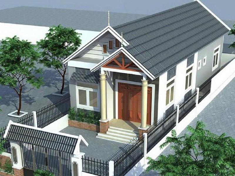mẫu nhà cấp 4 đẹp 5x20 tại Đà Nẵng