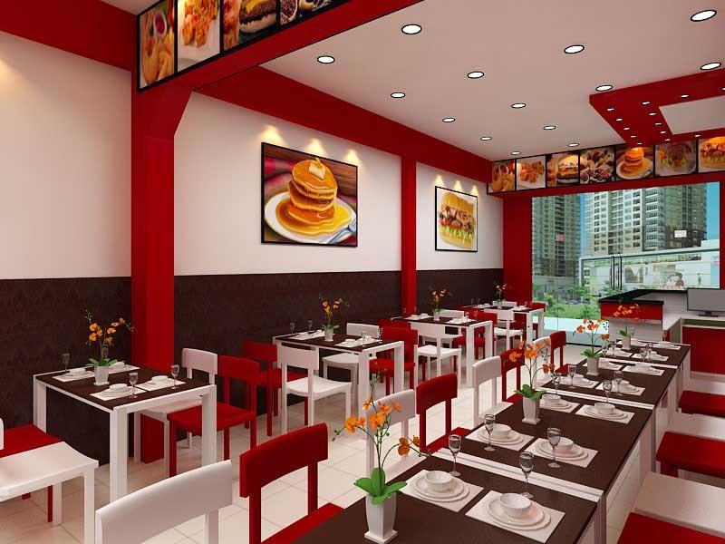 thiết kế nhà hàng phục vụ đồ ăn nhanh
