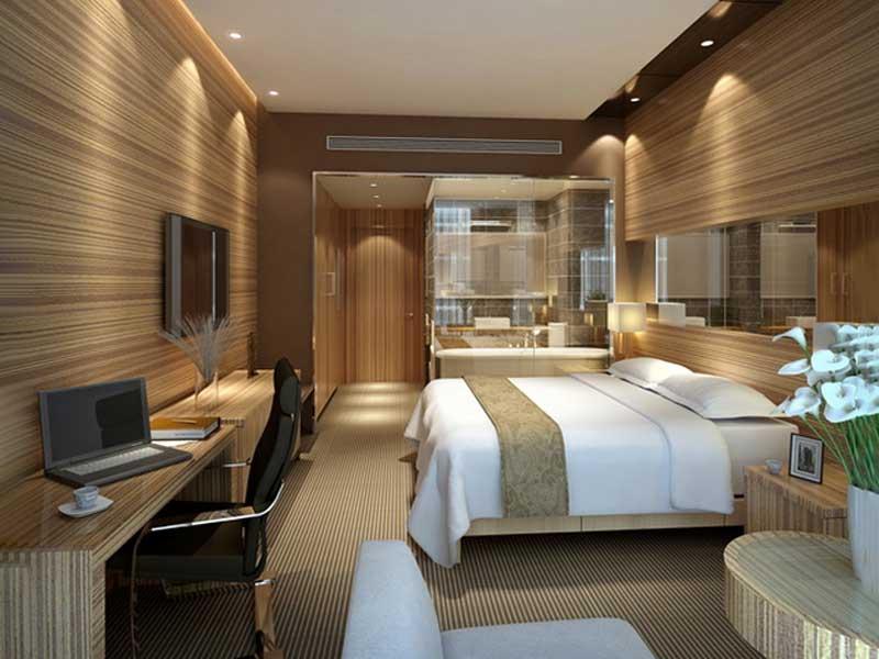 nội thất phòng đơn của khách sạn 4 sao