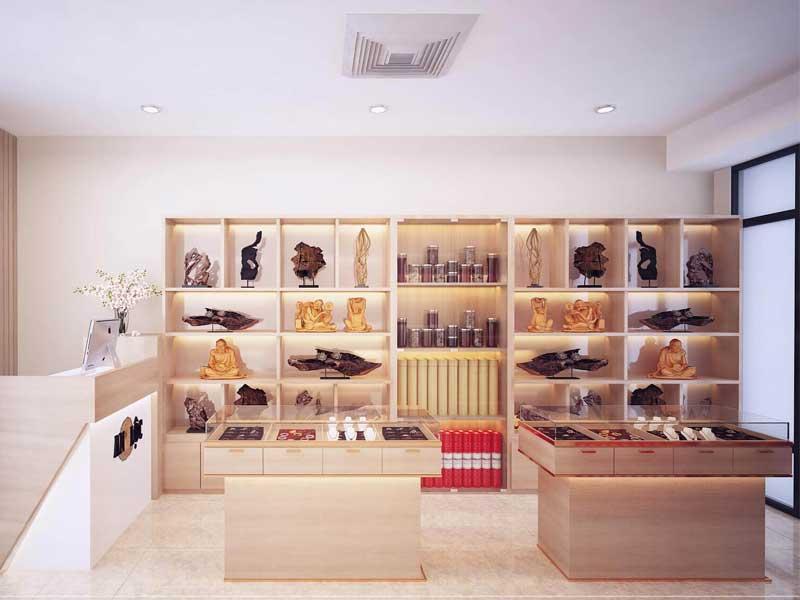 mẫu thiết kế cửa hàng trang trí