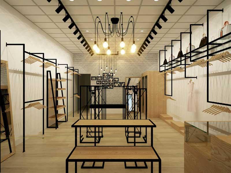 thi công và thiết kế cửa hàng quần áo