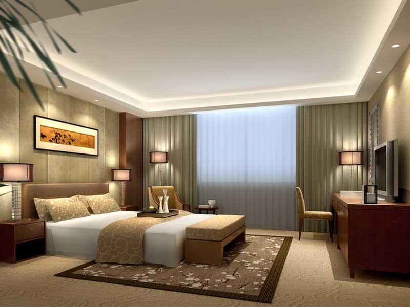 ví dụ về thiết kế nội thất phòng ngủ cho khách sạn 5 sao