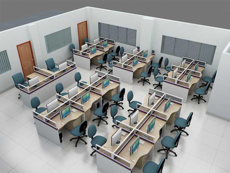 mẫu văn phòng thiết kế đơn giản