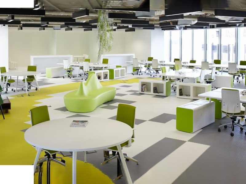 văn phòng với thiết kế không gian mở