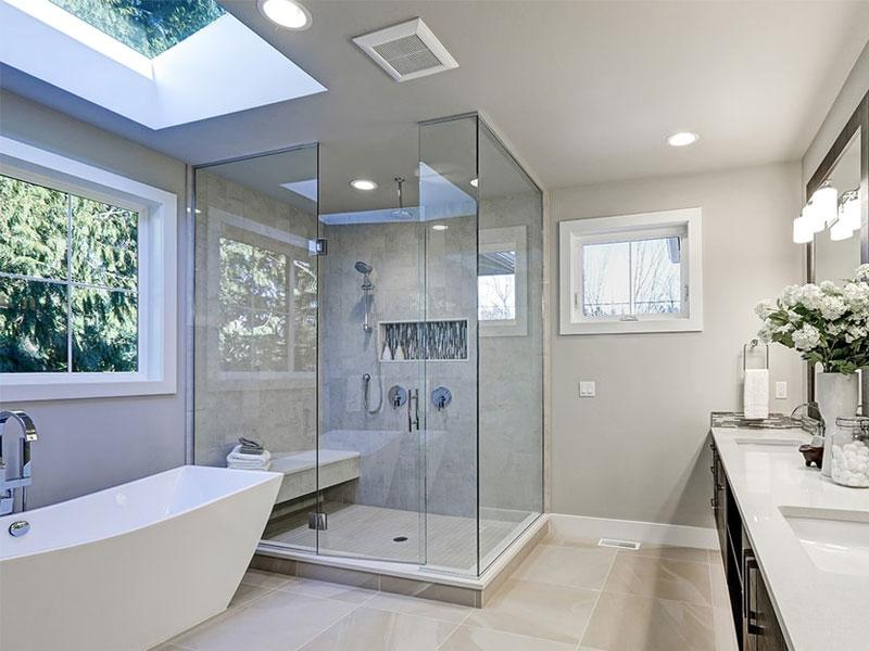 Sử dụng vách ngăn làm nội thất phòng tắm