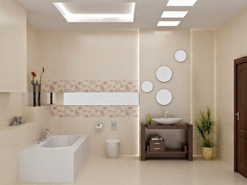 Dùng gạch men trang trí nội thất phòng tắm
