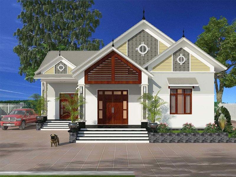 nhà đẹp giá rẻ cấp 4 mái thái hiện đại