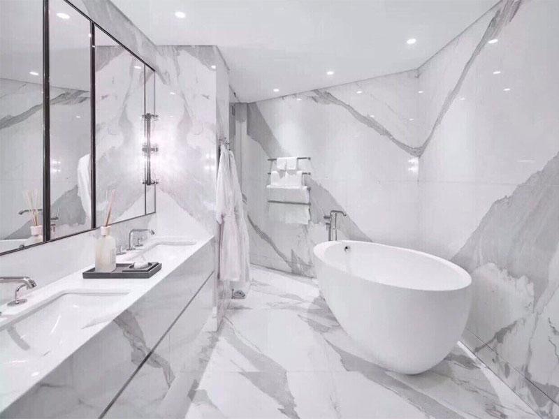 sử dụng đá hoa cương trong thiết kế  phòng tắm