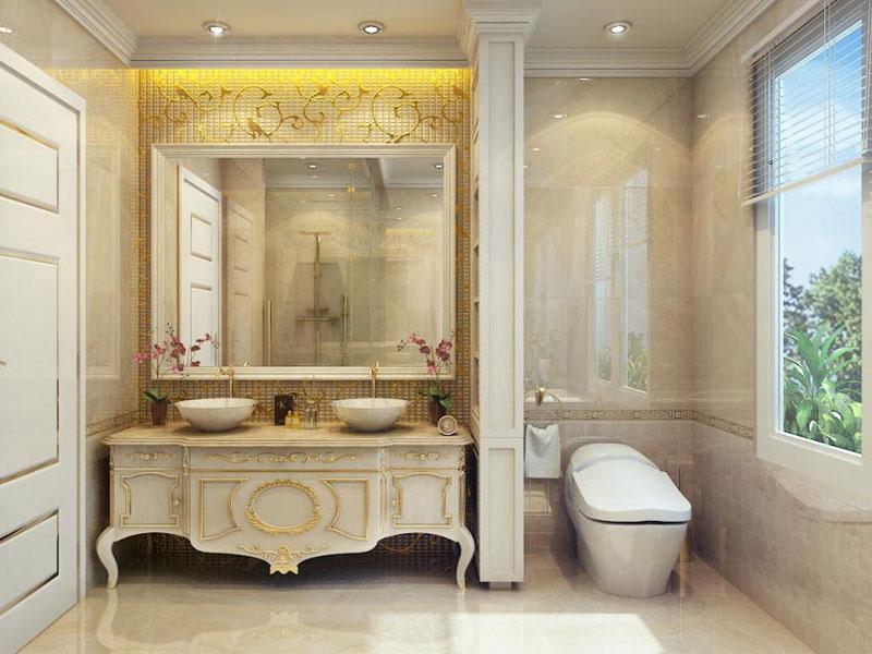 Phong cách cổ điển trong thiết kế phòng tắm