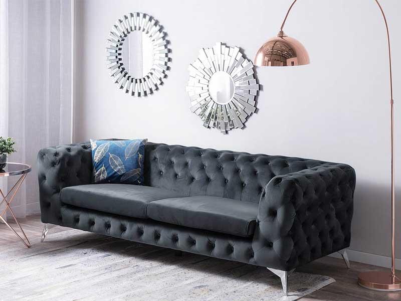 nội thất sofa bằng vải nhung