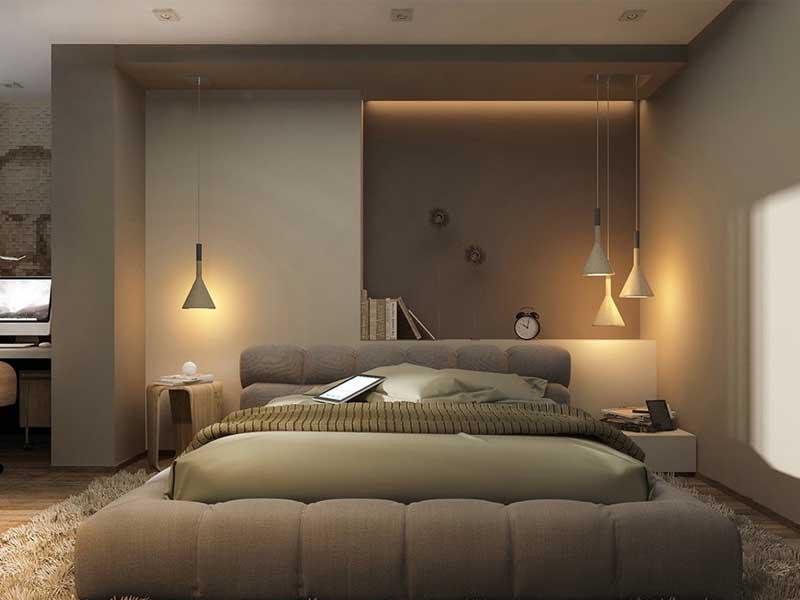Thiết kế ánh sáng trong phòng ngủ hợp lý
