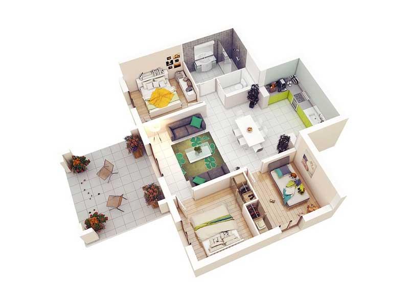 thiết kế nhà giá rẻ giúp hoàn thiện đúng công trình