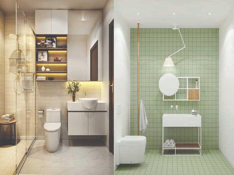Chọn màu sắc khi thiết kế nhà vệ sinh