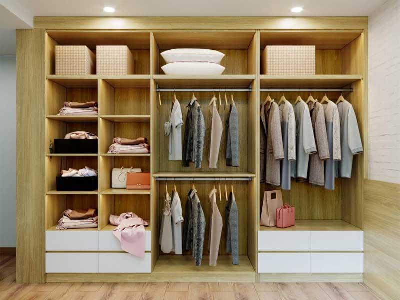 ưu điểm của tủ quần áo làm bằng gỗ công nghiệp