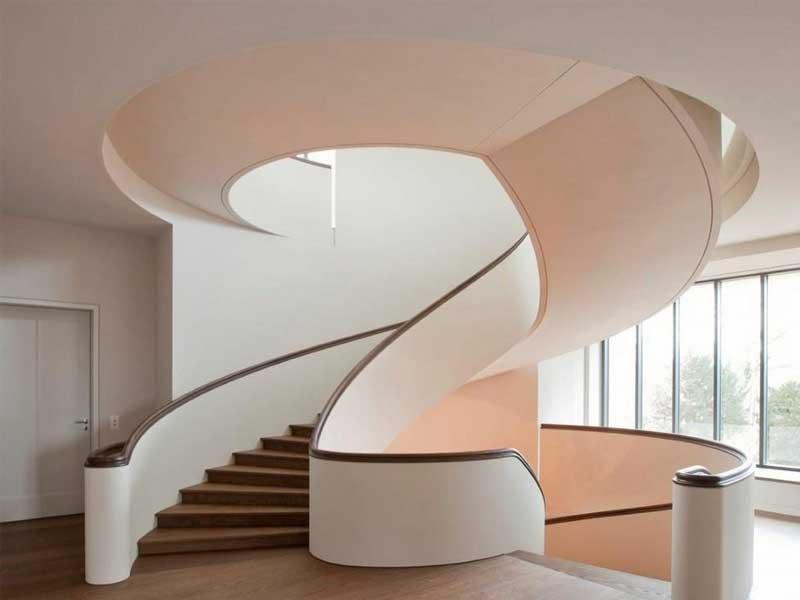 Nguyên tắc thiết kế cầu thang kiểu hình xoắn ốc trong nhà