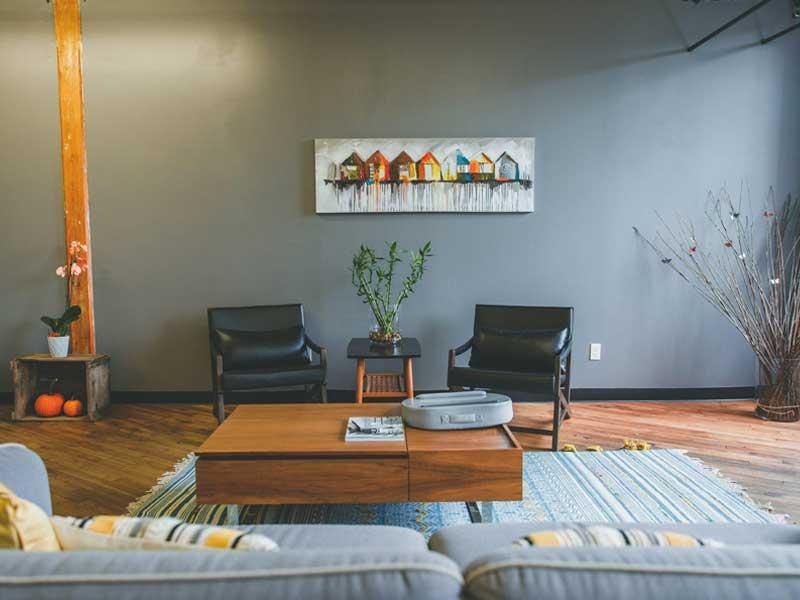 Sự tương phản của việc thiết kế nội thất