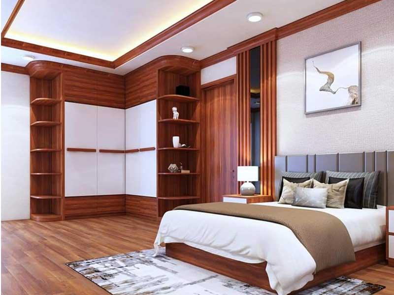 Mẫu giường ngủ đẹp theo phong cách tối giản hiện đại