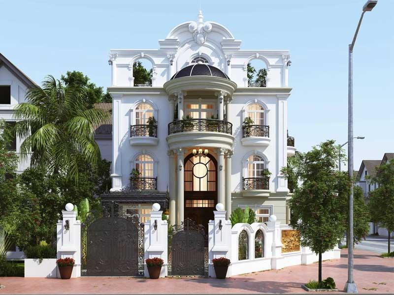 Thiết kế nhà phố nhỏ đẹp theo phong cách cổ điển kiểu Pháp