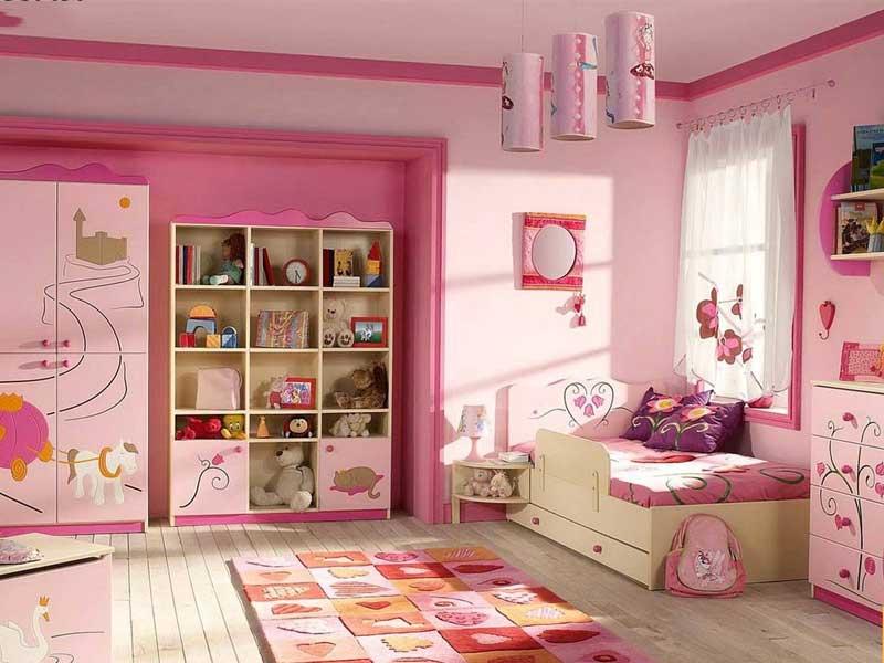 Phòng ngủ cho bé gái phải có đủ ánh sáng