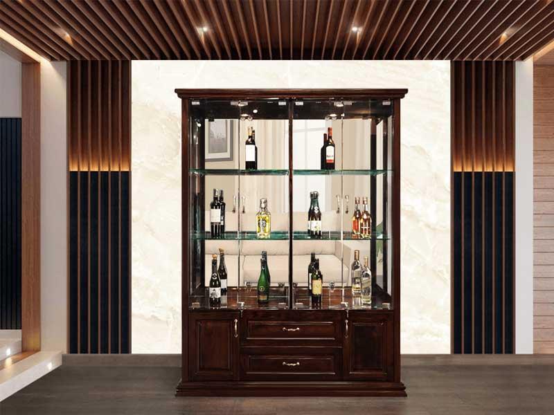 kích thước để chọn tủ rượu trang trí phòng khách