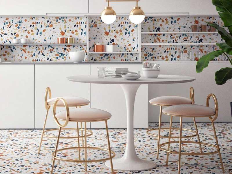 Xu hướng thiết kế nội thất sử dụng trang trí Gạch Terrazzo