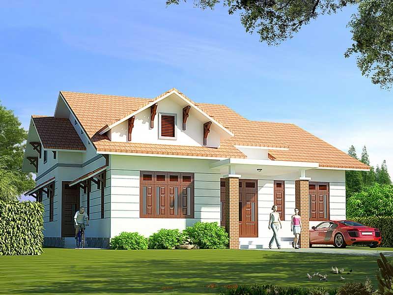 Thiết kế ngôi nhà hẹp có gác lửng