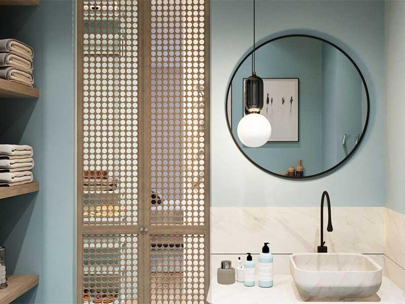 Gương treo tường dán phòng ngủ