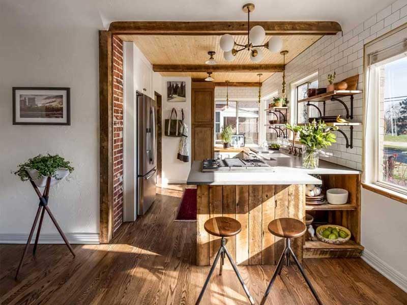 Cách bày trí độc đáo từ phong cách nội thất rustic