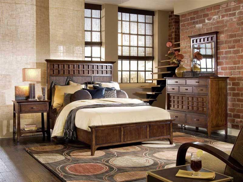 Giường ngủ với phong cách retro