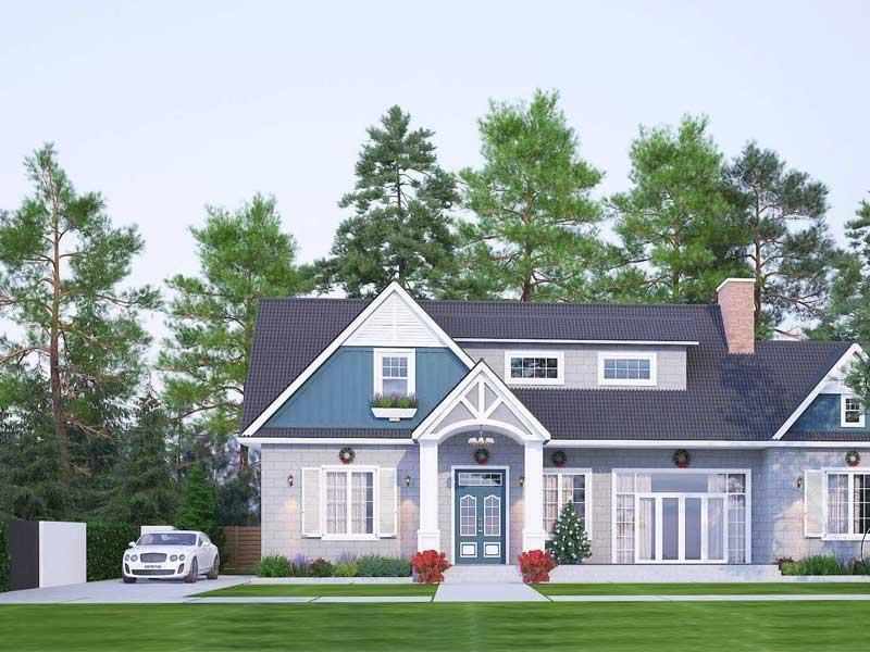 Thiết kế nhà vuồn đẹp 1 tầng mái thái