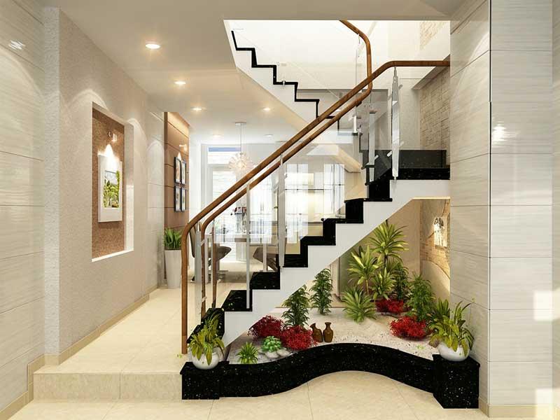 Mẫu thiết kế cầu thang nhà ống