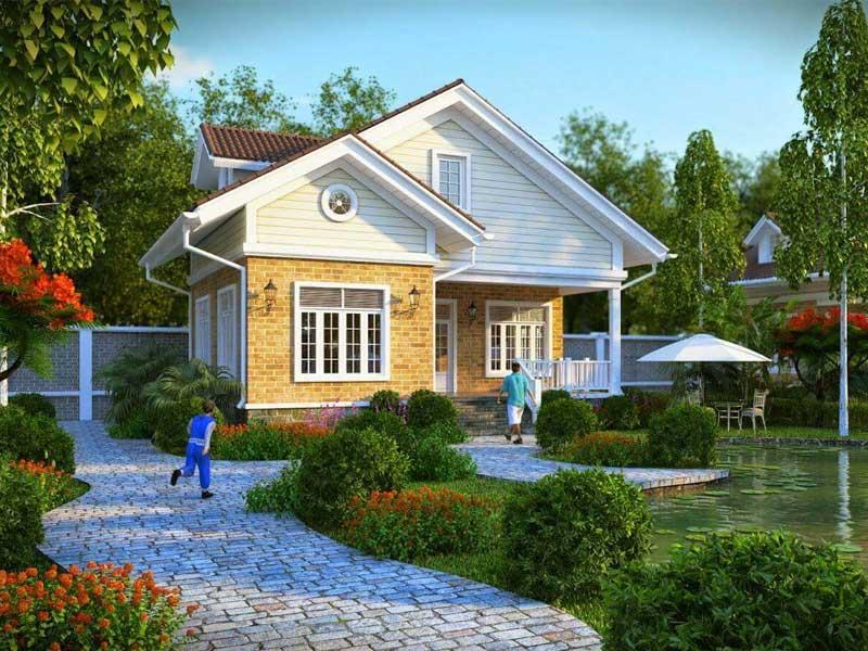 Nhà vườn ngoại ô phong cách truyền thống