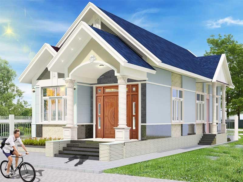 Thiết kế nhà dạng mái thái