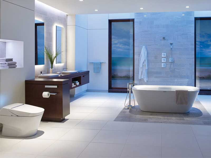 Phòng tắm với nội thất thông minh