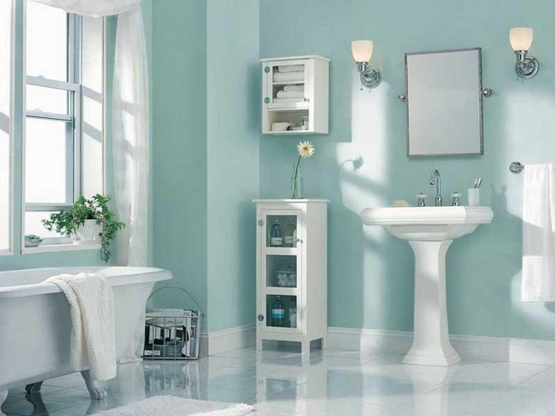Sử dụng gạch có nhiều màu sắc trong thiết kế phòng tắm