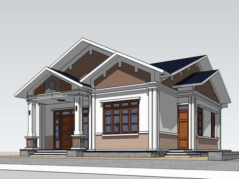 Thiết kế nhà mái thái Đà Nẵng