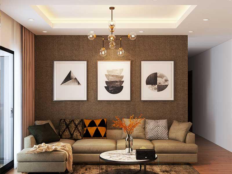 Thiết kế nội thất phòng khách thể hiện cá tính riêng của chủ gia