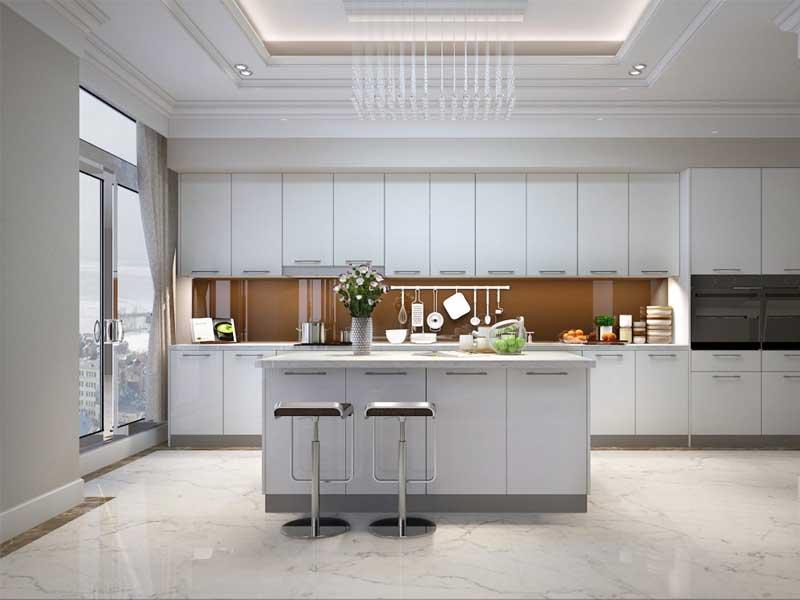 Thiết kế phòng bếp đẹp nhờ Gạch Ceramic