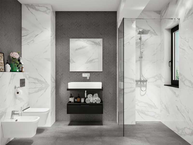 Đá cẩm thạch - Xu hướng thiết kế phòng tắm Đà Nẵng nổi bật