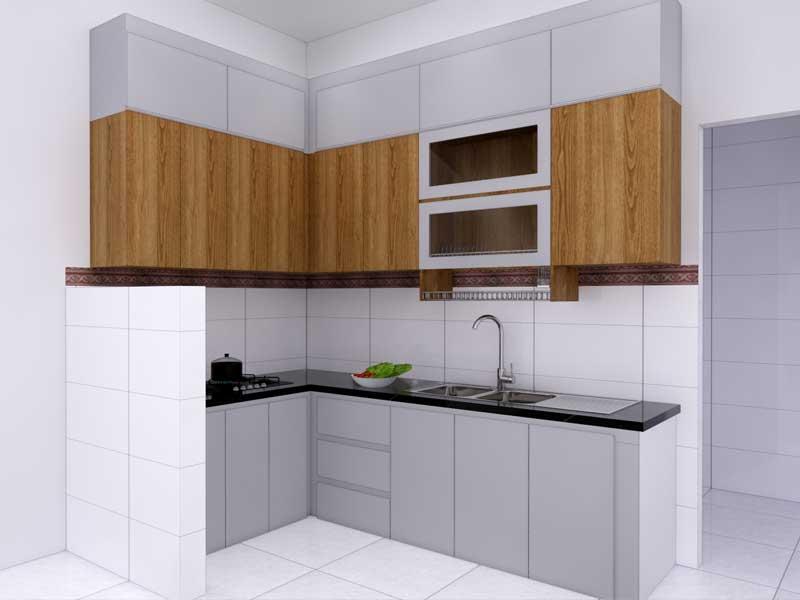 Tủ bếp đà nẵng có ngăn kéo cao
