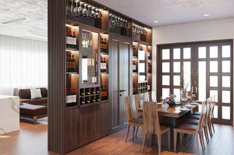 tủ rượu có thiết kế hiện đại hiện nay
