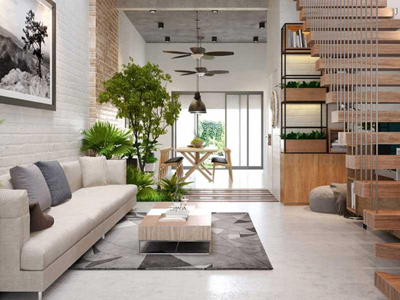 Xu hướng trung hòa trong thiết kế nội thất phòng khách