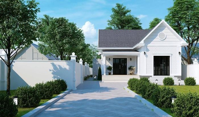 Thiết kế kiểu nhà nông thôn có sân vườn rộng