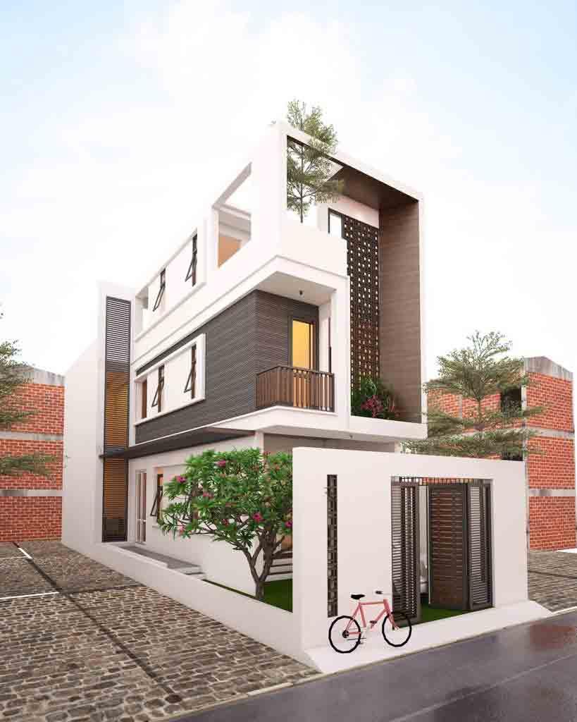đầu tư thiết kế nhà mặt phố giá rẻ