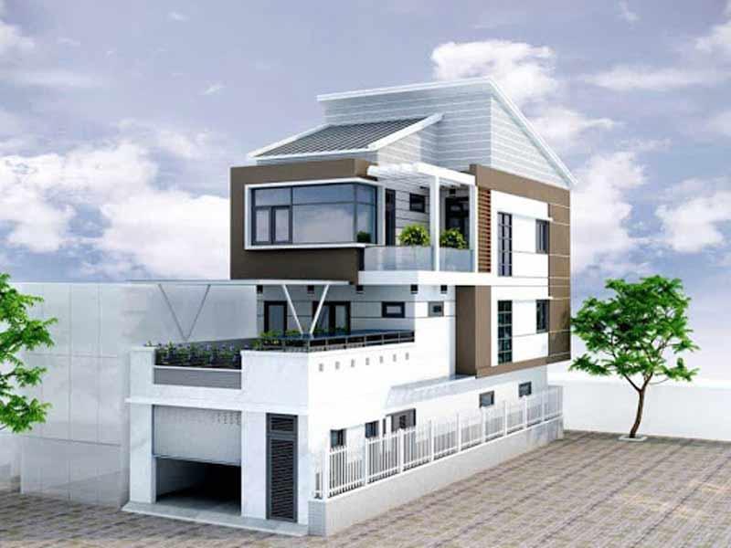 Thiết kế nhà mặt phố lệch tầng