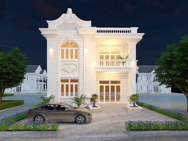 Nhà 2 tầng tân cổ điển đẹp