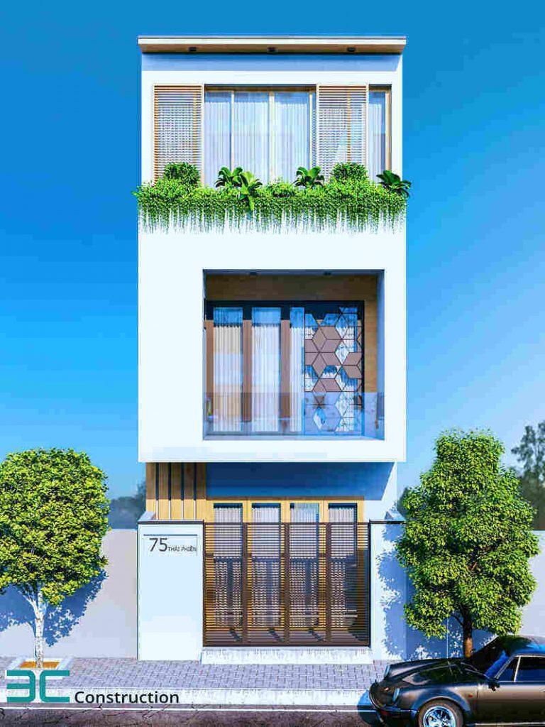 Thiết kế 3 tầng mái bằng
