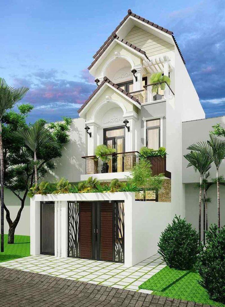Nhà 3 tầng mái Thái cổ điển
