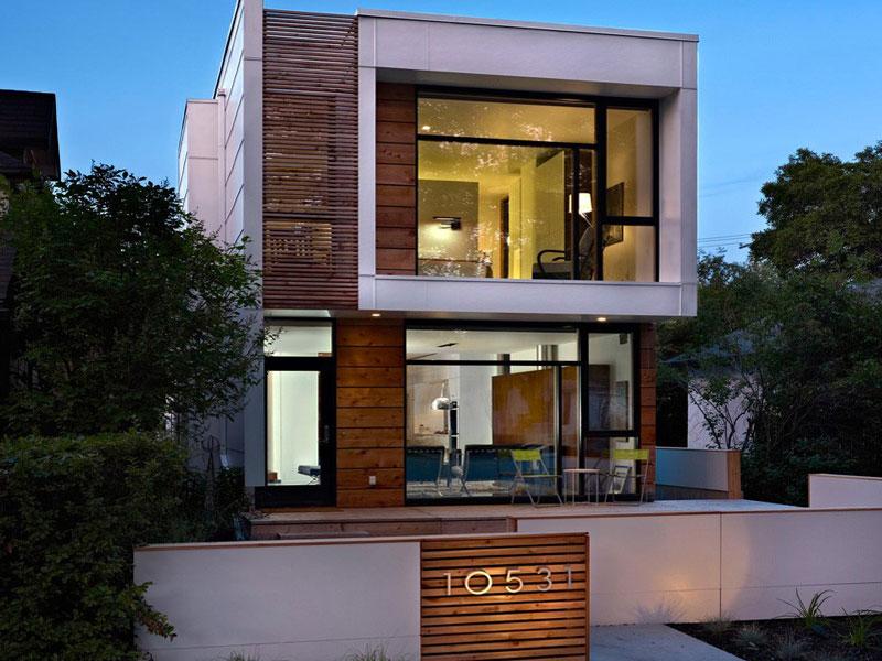 Thiết kế nhà phố 2 tầng nhà mặt kính