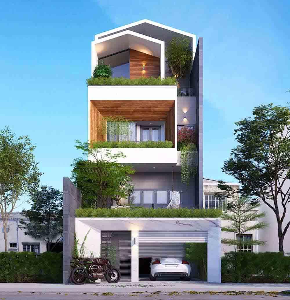 thiết kế nhà mặt phố trọn gói